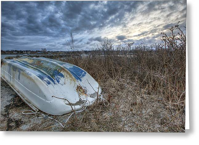 Rye Dinghy Greeting Card by Eric Gendron