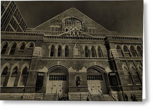 Ryman Auditorium Greeting Card by Dan Sproul
