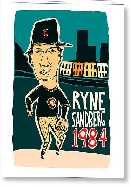 Ryne Sandberg Chicago Cubs Greeting Card