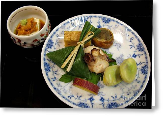 Greeting Card featuring the photograph Ryokan Dinner by Carol Sweetwood