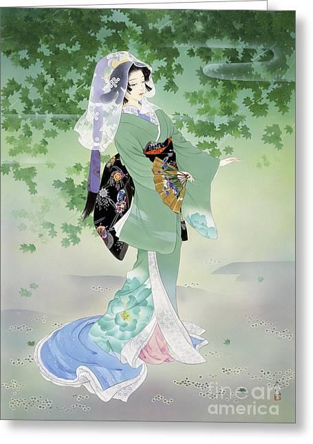 Ryokufu Emerald Wind Greeting Card