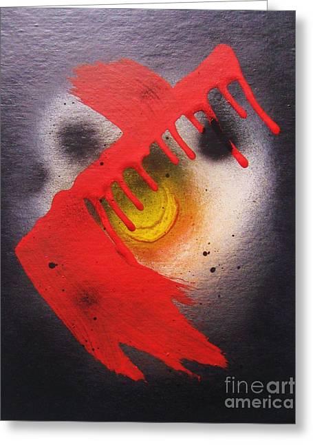 Ryuketsu  Kamenbudokai Greeting Card by Roberto Prusso