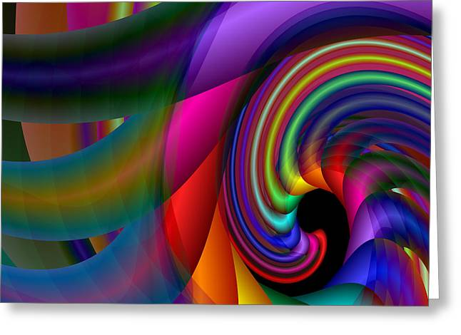 Greeting Card featuring the digital art S-106 by Dennis Brady