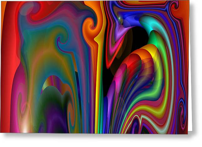Greeting Card featuring the digital art S-113 by Dennis Brady