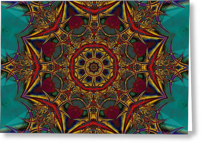 Greeting Card featuring the digital art S-118 by Dennis Brady