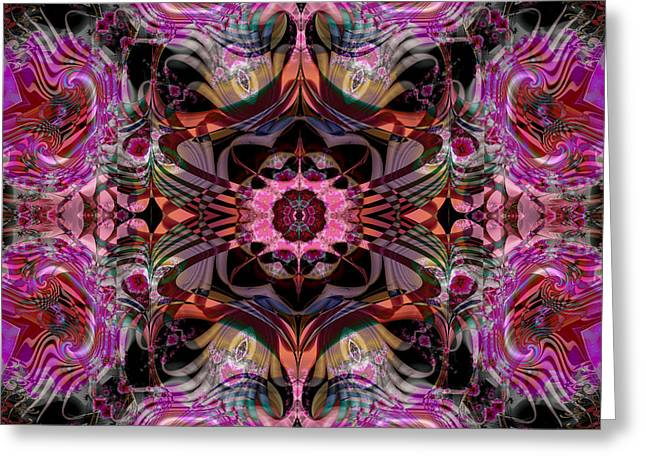 Greeting Card featuring the digital art S-95 by Dennis Brady