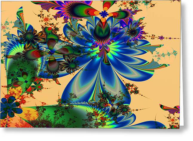Greeting Card featuring the digital art S-97 by Dennis Brady