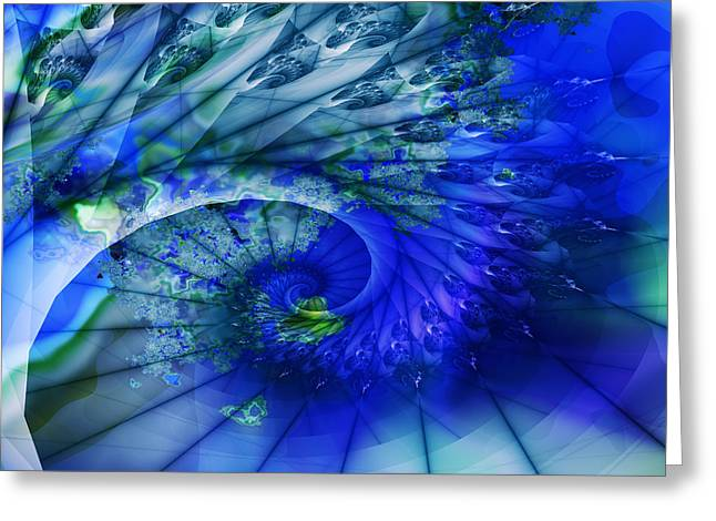 Greeting Card featuring the digital art S-99 by Dennis Brady