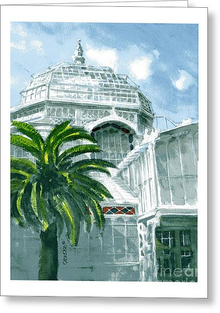 Sf Conservatory Greeting Card
