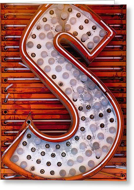 S In Lights Greeting Card