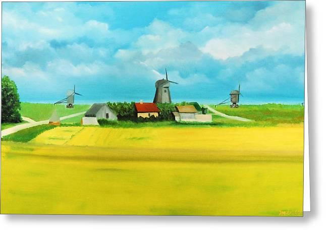 Saaremaa Island Estonia Greeting Card by Misuk Jenkins