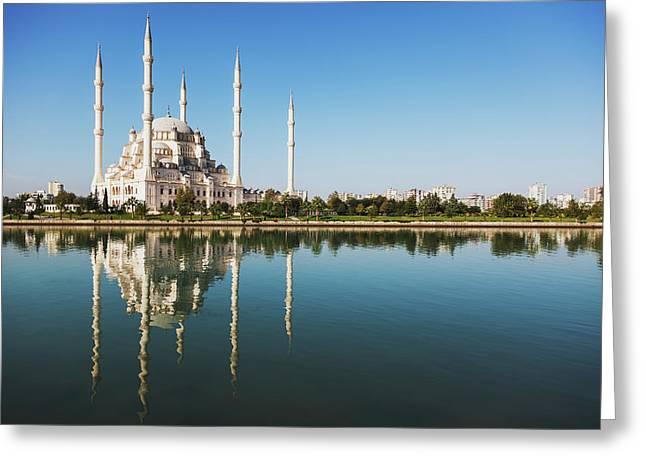 Sabanci Mosque  Adana, Turkey Greeting Card by Reynold Mainse