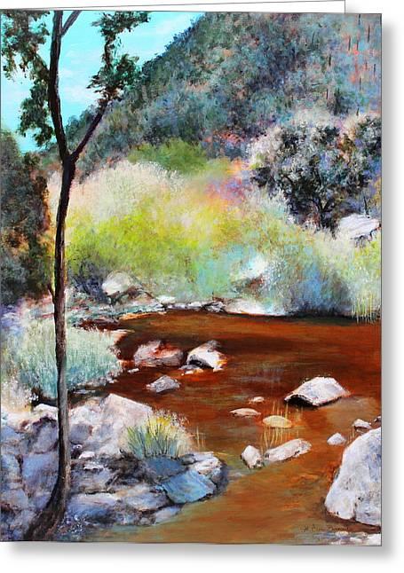 Sabino Canyon Scenes 2 Greeting Card by M Diane Bonaparte