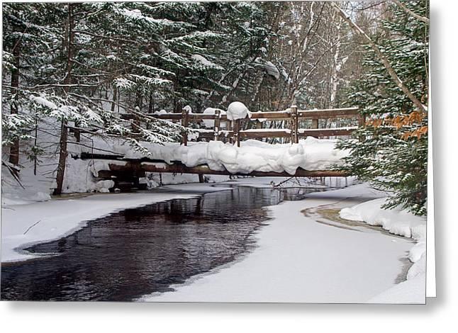 Sable Creek Footbridge  Greeting Card