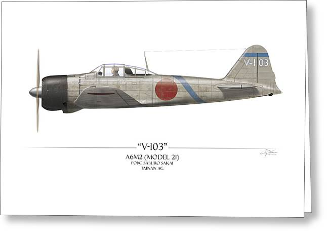 Saburo Sakai A6m Zero  Greeting Card by Craig Tinder