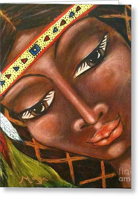 Sacajawea Greeting Card by Maya Telford