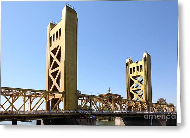 Sacramento California Tower Bridge 5d25530 Greeting Card
