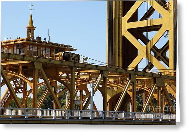 Sacramento California Tower Bridge 5d25539 Greeting Card