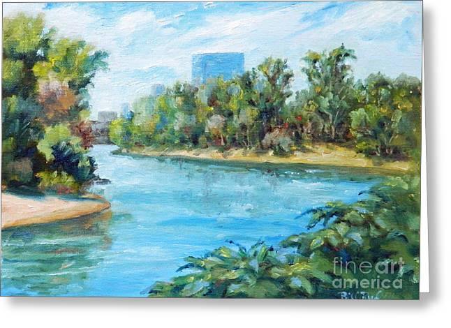 Sacramento River Confluence Greeting Card by William Reed