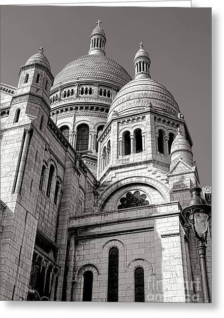 Sacre Coeur Architecture  Greeting Card by Olivier Le Queinec