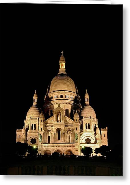 Sacre-coeur Greeting Card by Babak Tafreshi