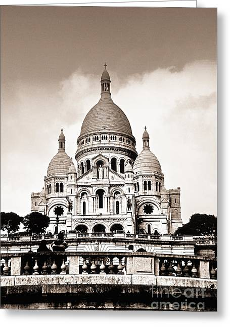 Sacre Coeur Basilica In Paris Greeting Card by Elena Elisseeva