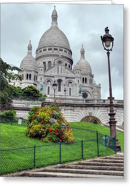 Sacre Coeur Cathedral Greeting Card by Ioan Panaite