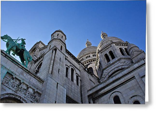 Sacre Coeur Greeting Card by Chris Whittle