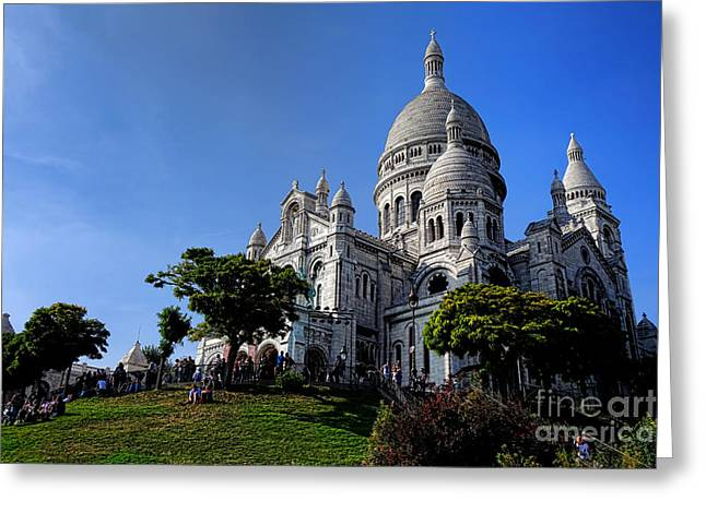 Sacre Coeur On Butte Montmartre Greeting Card by Olivier Le Queinec