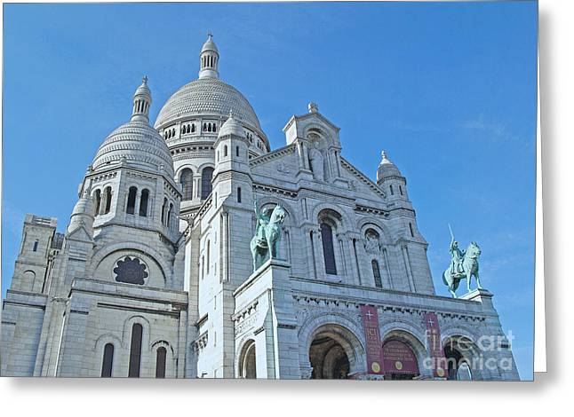 Evening At Sacre-couer Greeting Card by Ann Horn