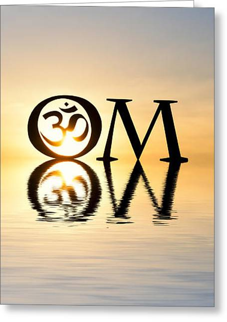 Sacred Aum Greeting Card by Tim Gainey