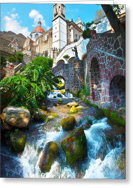 Sacred Chalma Greeting Card by John  Bartosik