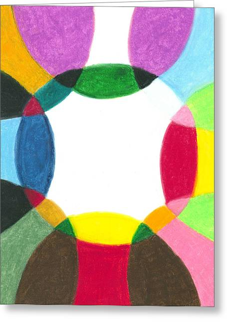 Sacred Circle Of Light Greeting Card