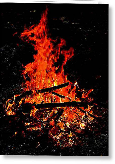Sacred Fire Greeting Card by David  Brown