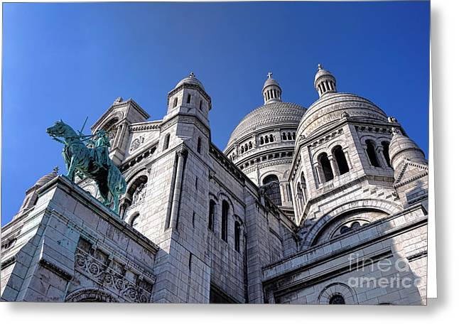 Sacred Heart Basilica  Greeting Card by Olivier Le Queinec