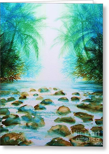 Sacred Pools Greeting Card