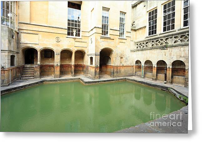 Sacred Roman Spring Greeting Card by Paul Cowan