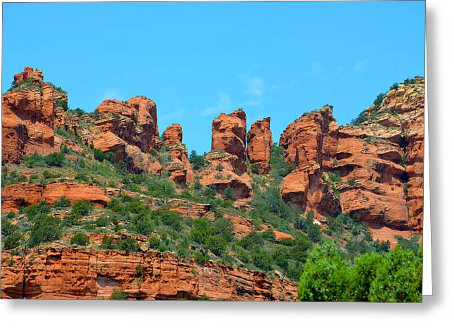 Sacred Sedona Greeting Card by Deprise Brescia