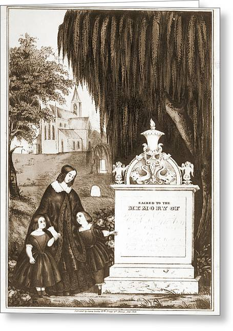 Sacred To The Memory Of No Date Recorded On Shelflist Card Greeting Card by Litz Collection