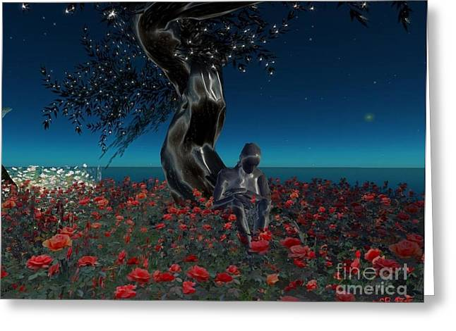 Greeting Card featuring the digital art Sad And Lonely by Susanne Baumann