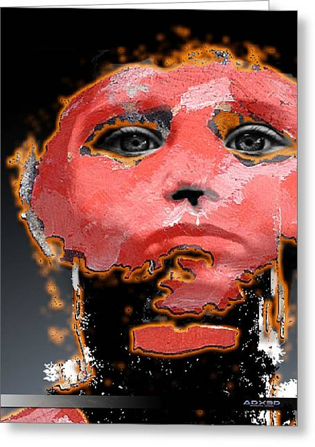 Greeting Card featuring the digital art Sad Eyes by A Dx