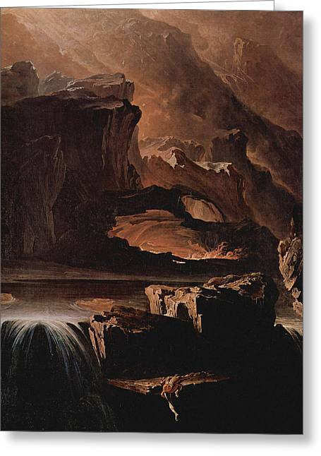 Sadak And The Waters Of Oblivion  Greeting Card by John Martin