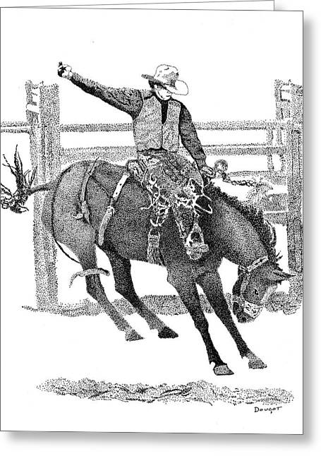 Saddle Bronc Greeting Card