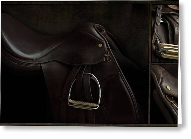 Saddle Triptych Greeting Card