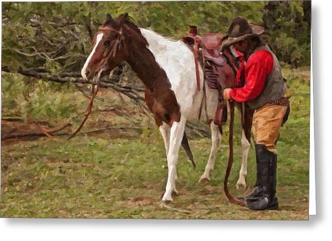 Saddle Up Greeting Card