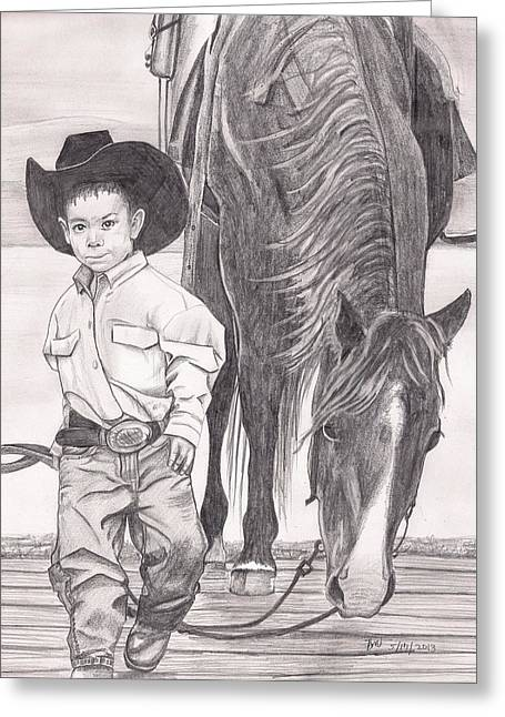 Saddle Up Partner Greeting Card by Beverly Marshall