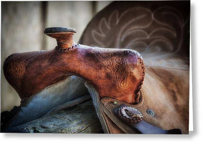 Saddle Up Still Life Greeting Card by Tom Mc Nemar