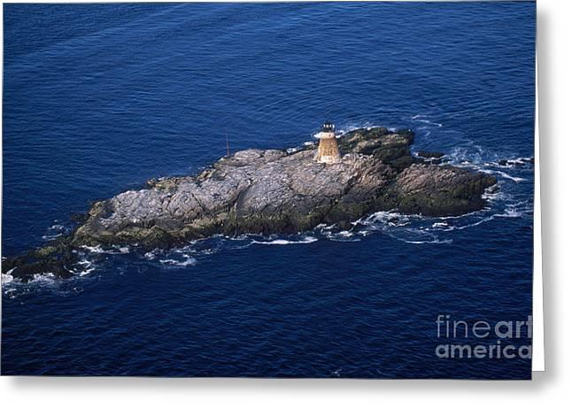 Saddleback Ledge Lighthouse Greeting Card by Bruce Roberts
