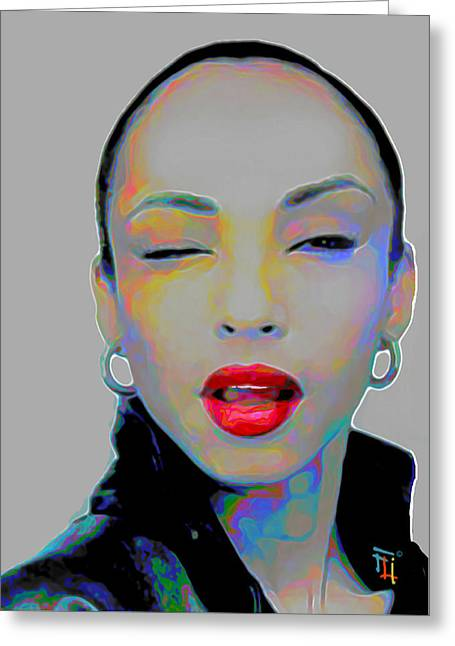 Sade 3 Greeting Card by Fli Art