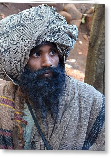 Sadhu At Amarkantak India Greeting Card